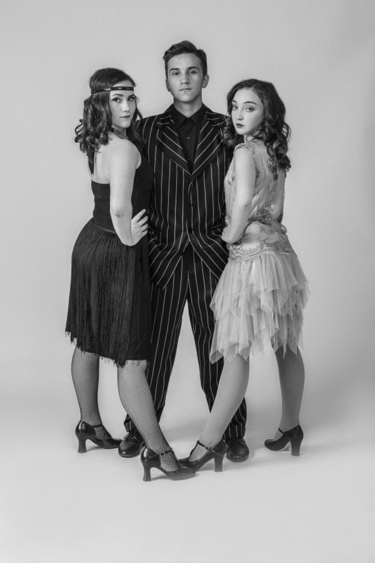 """Mallorie Mendoza, from left, Dominic Mendoza and Cherish Hales star in Prairie High School's production of """"Chicago — the High School Edition,"""" which has been adapted to remove racy language. Prairie Drama Club"""