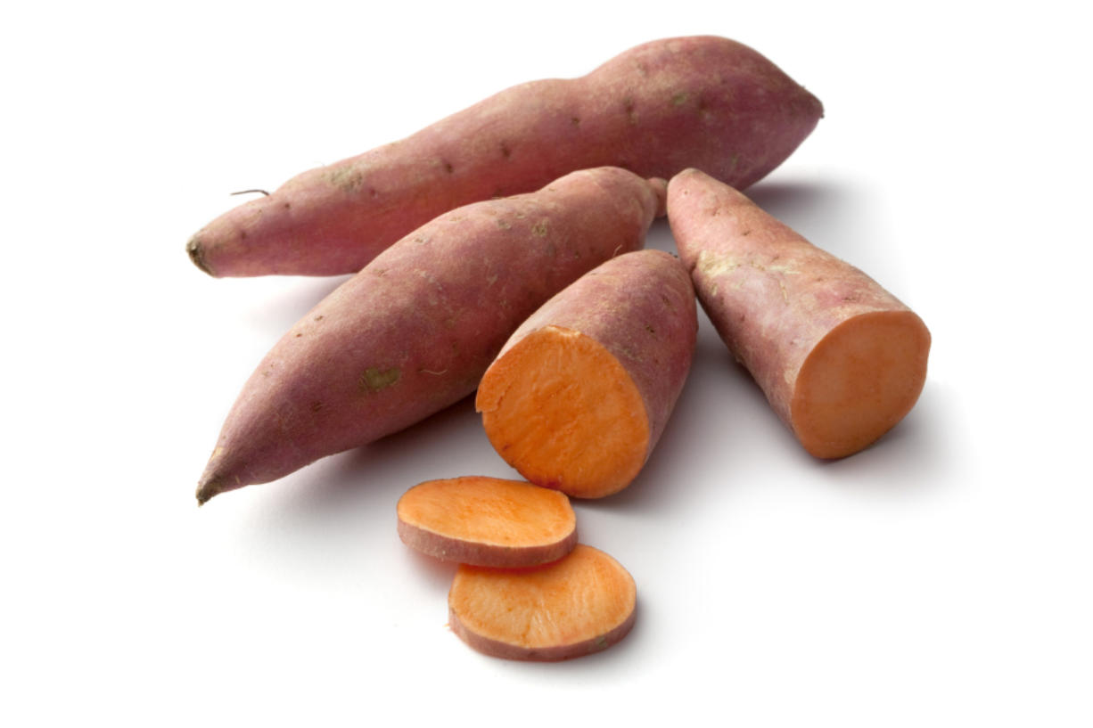 Sweet potatoes are rich in fiber, vitamins A and C, and potassium.