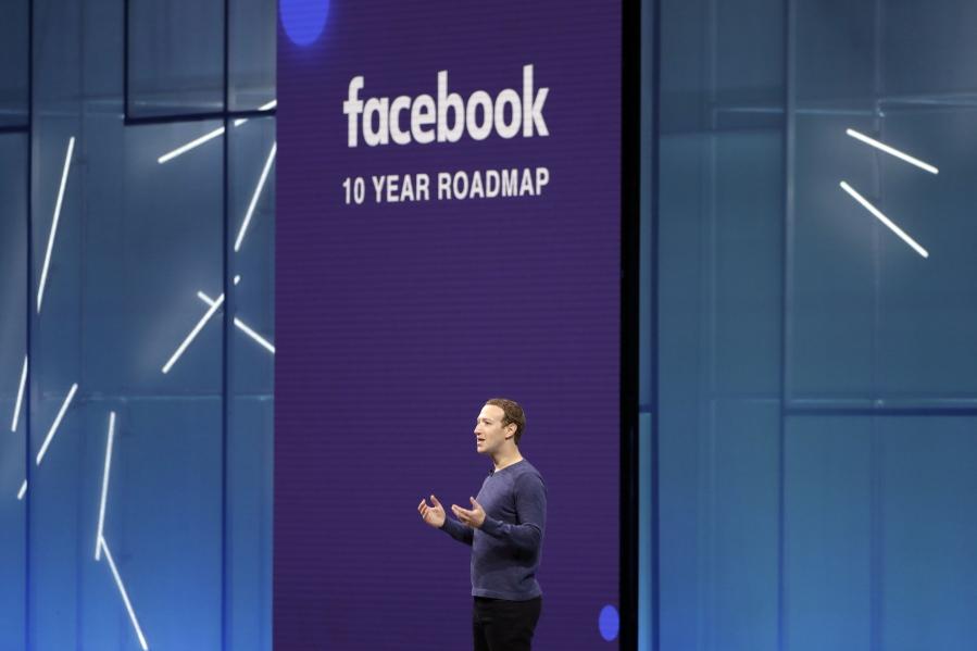 Facebook CEO Mark Zuckerberg makes the keynote speech at F8, Facebook's  developer conference in San