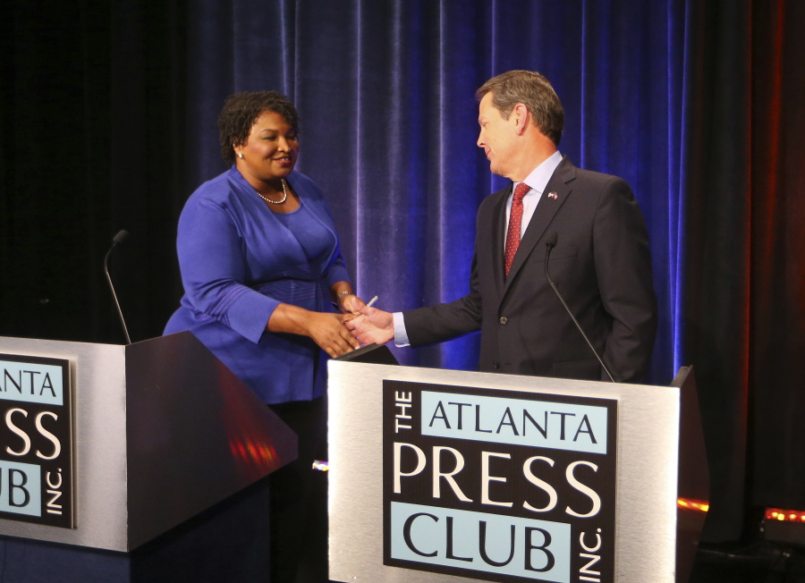 Image result for Voting Access Dominates Georgia Debate Between Abrams, Kemp