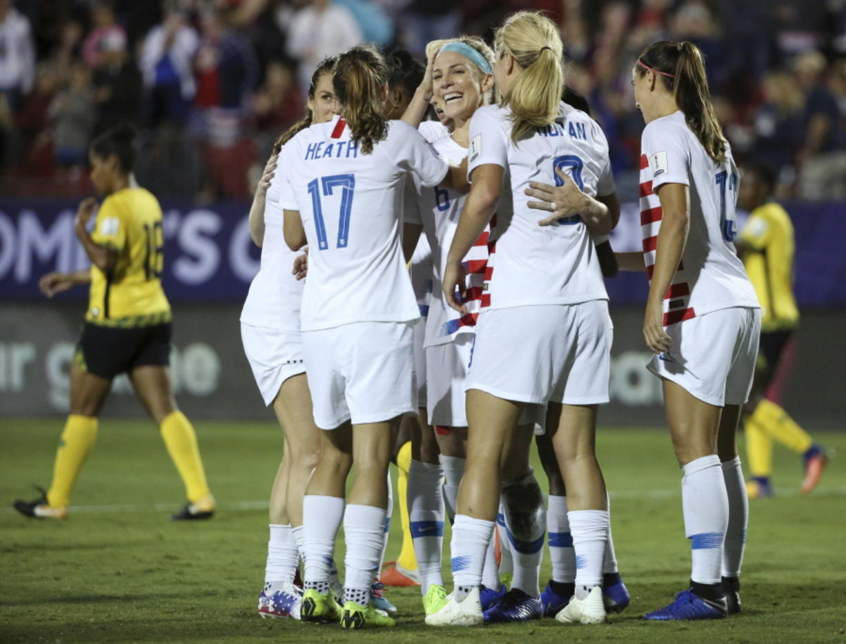 sale retailer 96745 91ec6 U.S. headed to Women's World Cup with 6-0 win over Jamaica ...