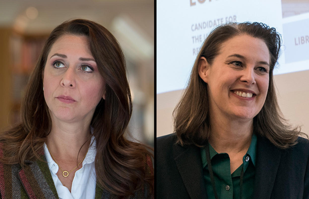 Third District voters will get their last chance to see Rep. Jaime Herrera Beutler, left, face off with challenger Carolyn Long at a forum in Goldendale which will also include more than a dozen other candidates.