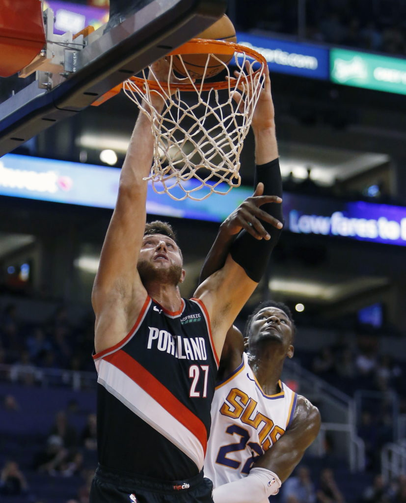 Portland Trail Blazers Espn Nba: Blazers Beat Suns, Top Pick Ayton In Preseason Game