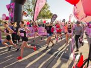 The 12th Girlfriends Run for a Cure gets underway at 9 a.m. Sunday. This year, the event raised more than $50,000 for breast cancer research.