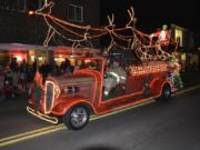 It's not just trees that get lit up at Washougal's annual holiday parade.