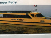 The Friends of Frog Ferry said this is what the ferry could look like, although the actual design would be dependent on the results of a feasibility study.