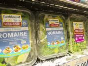 Earthbound Farm Organic romaine lettuce in a grocery store in New York in 2013. Richard B.