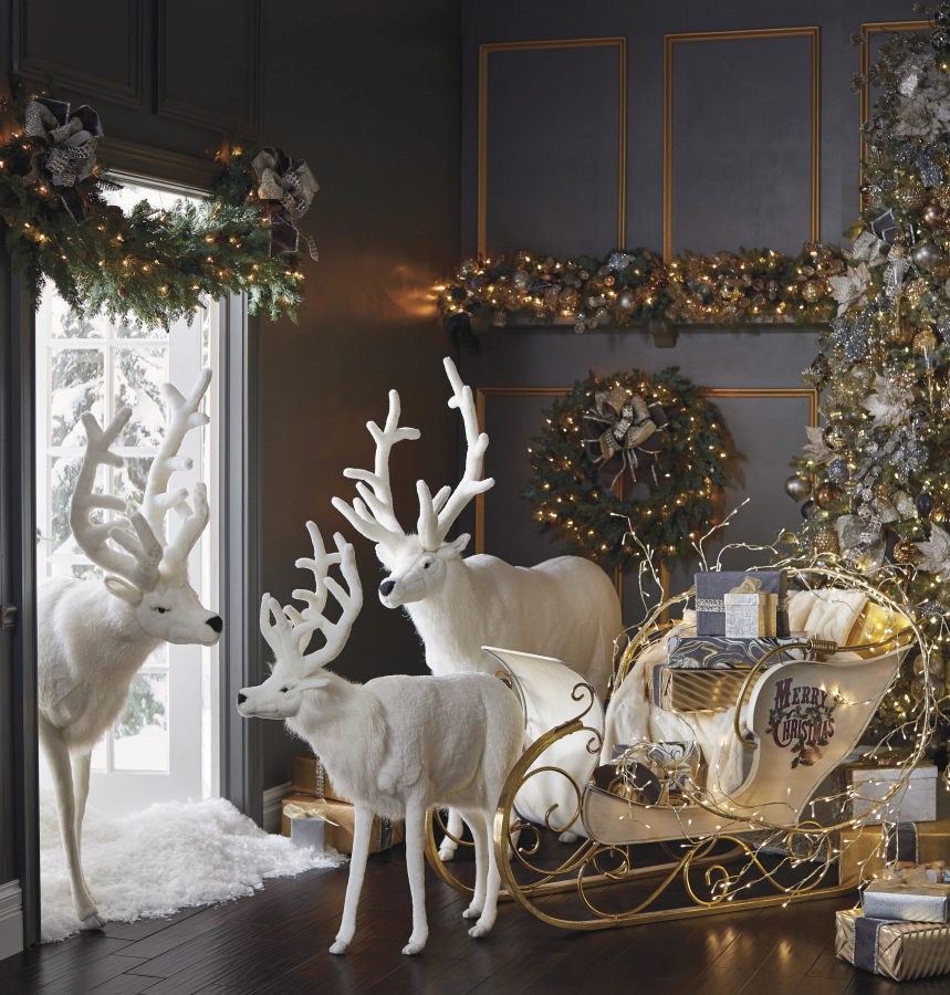 Frontgate Home Decor: Deer, Reindeer Motifs For Holidays And For Anytime