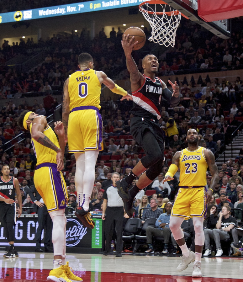 Portland Trail Blazers Center: James Scores 28 As Lakers Fend Off Blazers