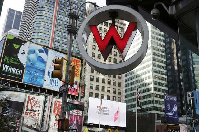 In This July 31 2017 File Photo The Logo For W Hotel