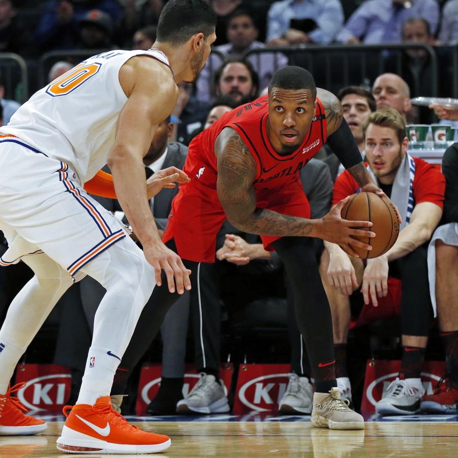 Blazers Kanter: McCollum, Lillard Help Blazers Edge Knicks 118-114