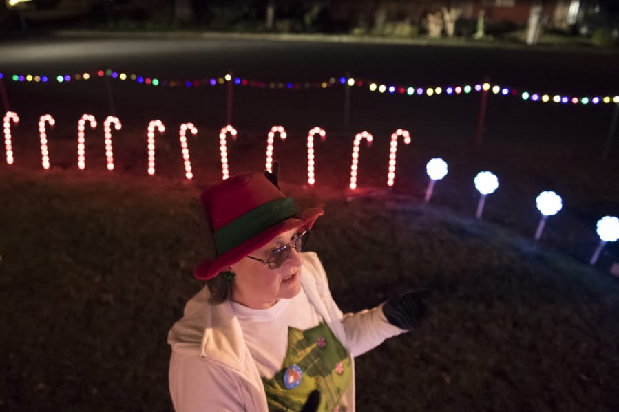 Cathy Mcguire 63 Started Decorating Her Yard With Extravagant Christmas Decorations About Six Year