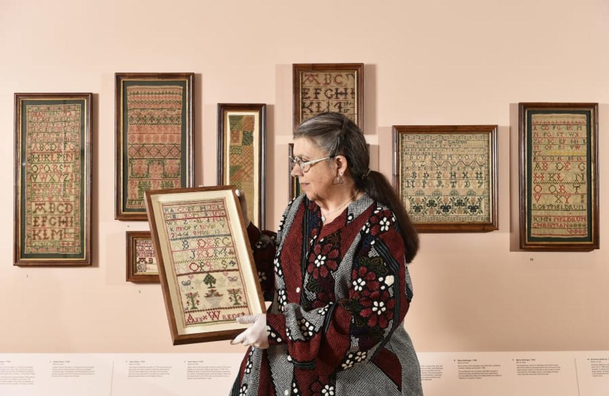 Vancouver philanthropist Leslie Durst, the owner of the world's largest private collection of Scottish samplers, visited a special exhibit of her own collection at the National Museum of Scotland in Edinburgh earlier this year.