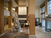 The Hilton Vancouver Washington, decorated for the holidays, opened in June 2005 with less competition than currently surrounds the city-owned hotel. More competition from new hotels is anticipated over the next two years.