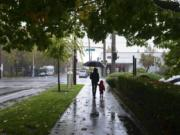 Get out your umbrellas, and hold on tight. Forecasters say a lot of rain and wind are on the way to Clark County.