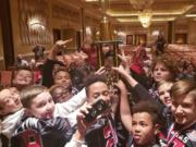 The East County Camas Jets Junior Pee Wee football team finished runner-up at the National Youth Football Championship Tournament, held over Thanksgiving weekend at Las Vegas.