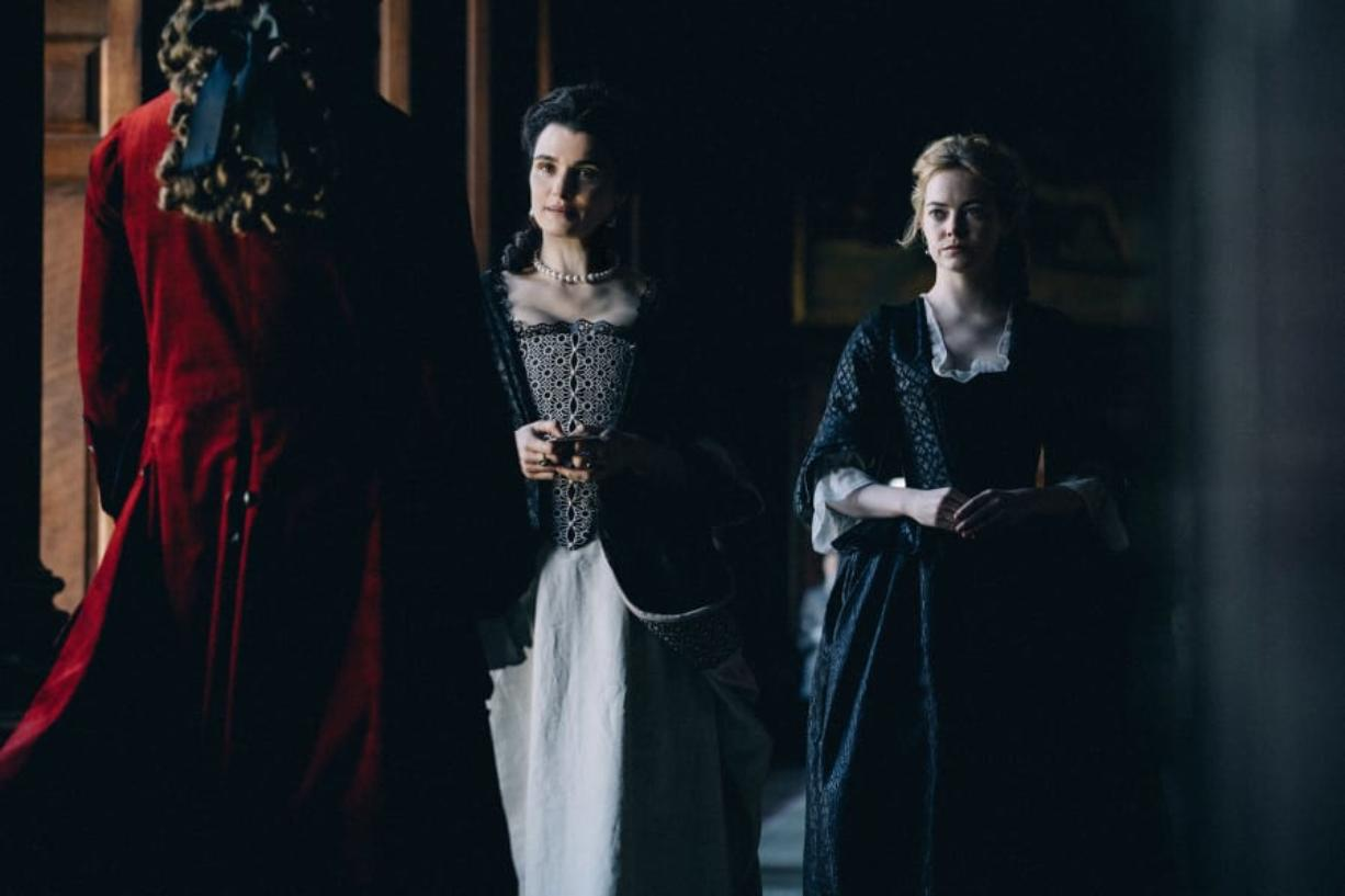 """Rachel Weisz, left, and Emma Stone in """"The Favourite."""" Atsushi Nishijima/Fox Searchlight Pictures"""