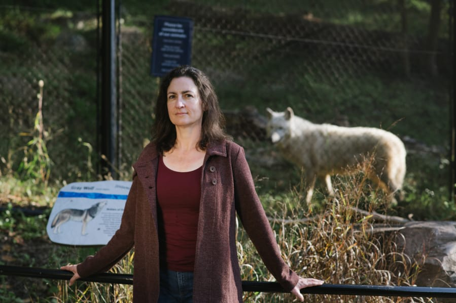 Francine Madden, pictured at the National Zoo in October, is a wildlife mediator based in Washington