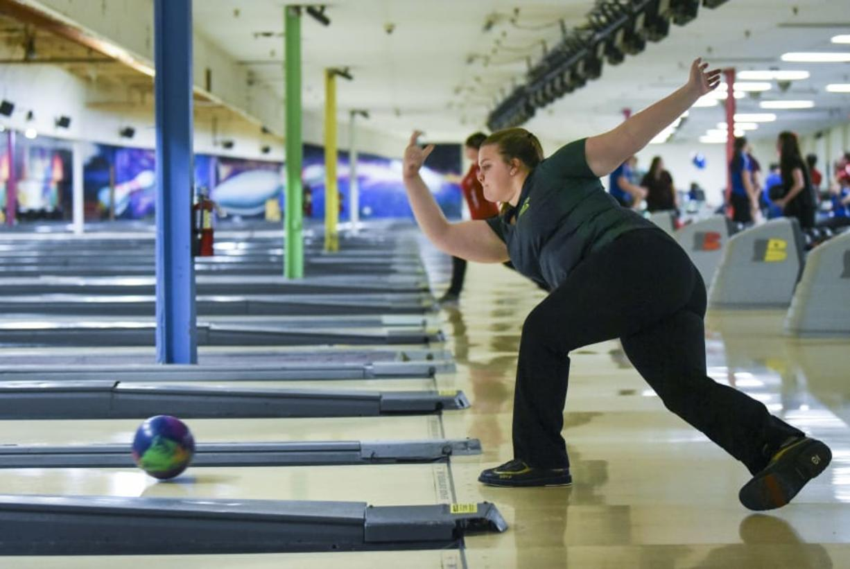 Evergreen senior Kerissa Andersen, a state champion in 2016, is one of the top bowlers in Clark County.