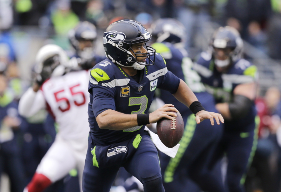Seattle Seahawks quarterback Russell Wilson in action against the Arizona  Cardinals during the first bf906d444
