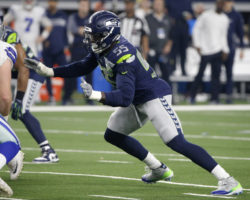 54f4657129e The Seattle Seahawks used their franchise tag Monday on defensive end Frank  Clark