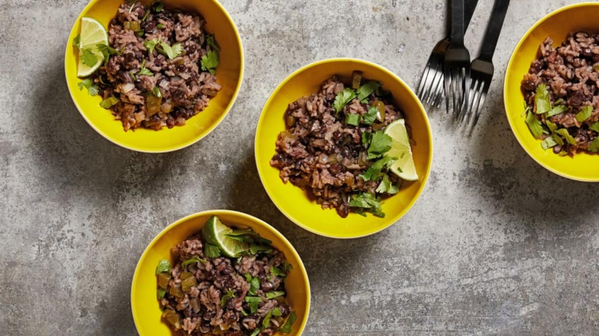 Cuban beans and rice brings together two pantry staples in one perfect pot of comfort.