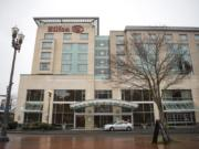 Vancouver issued $68 million in bonds in 2003 to build the Hilton Vancouver Washington and Vancouver Convention Center. A citywide hotel room tax repays the bonds. The bonds' balance was refinanced at a lower interest rate in 2013. The bonds are set to be paid in full in 2043.