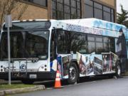Battle Ground is the first of several local cities to be honored with a vinyl wrap on a C-Tran bus.