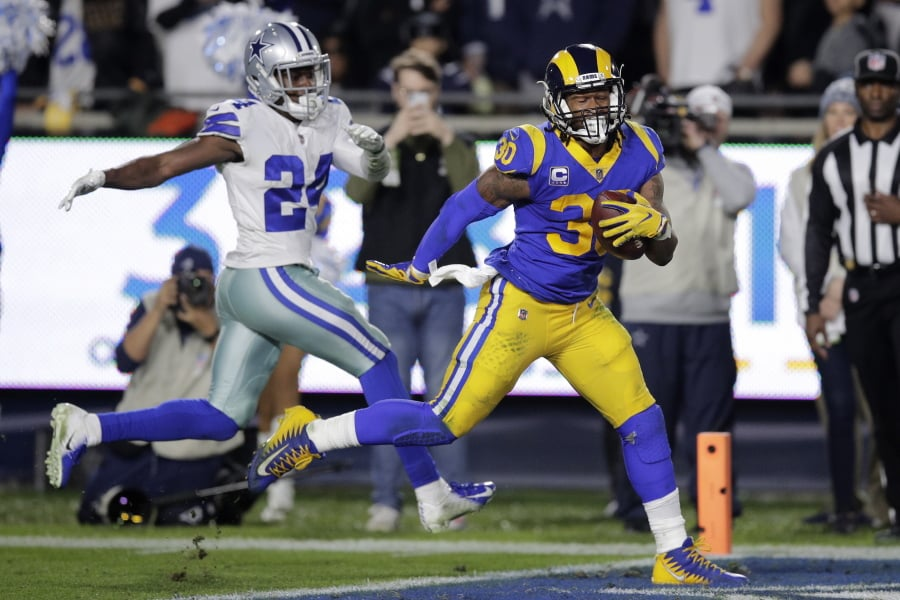 Gurley Rams Run Through Cowboys Advance With 30 22 Victory The