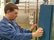 Thomus Cherry is pursuing a mechatronics certification at Clark College in instrumentation and control automation while working as an SEH America apprentice in Vancouver.