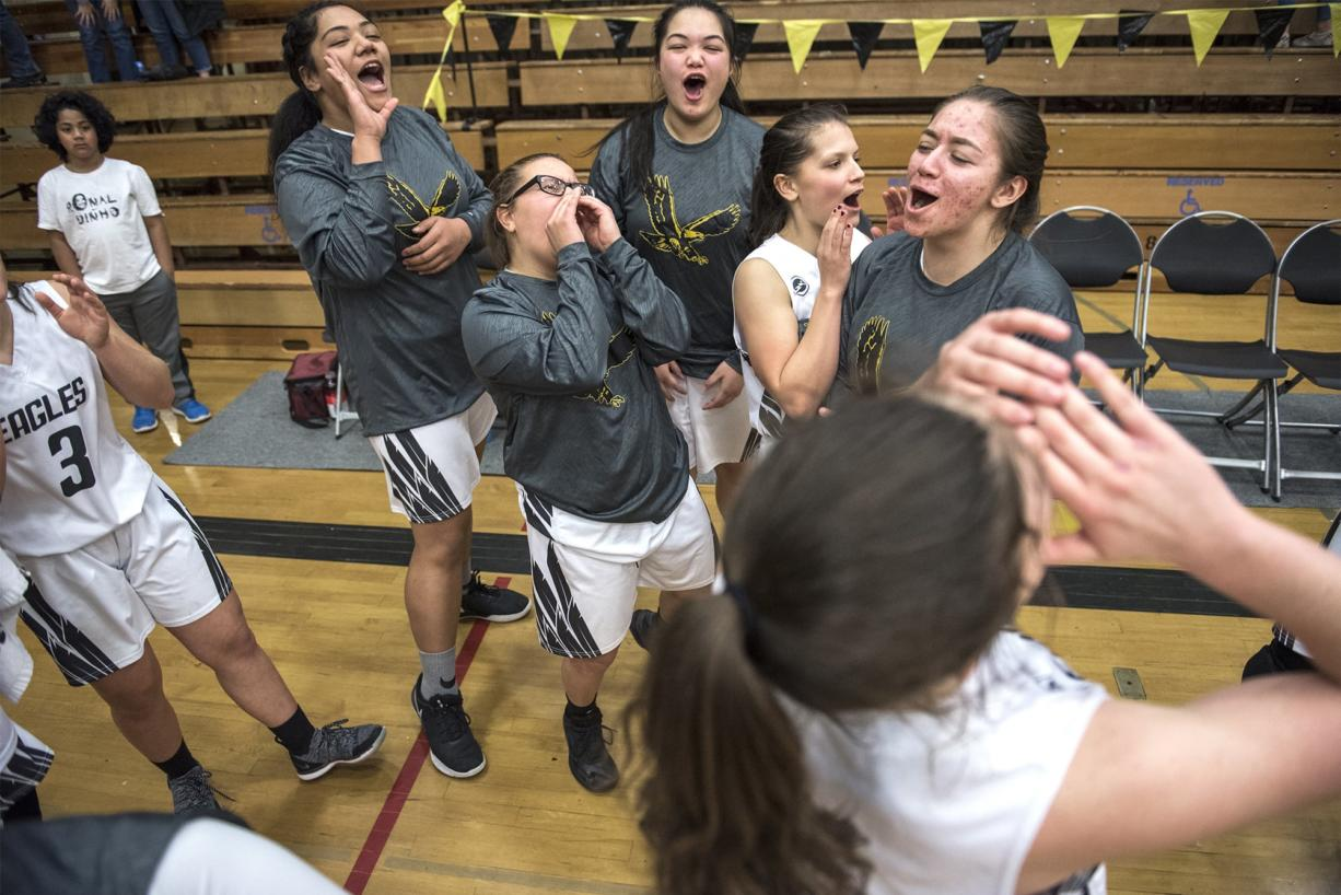 Young Eagles win 1st home playoff game in recent memory
