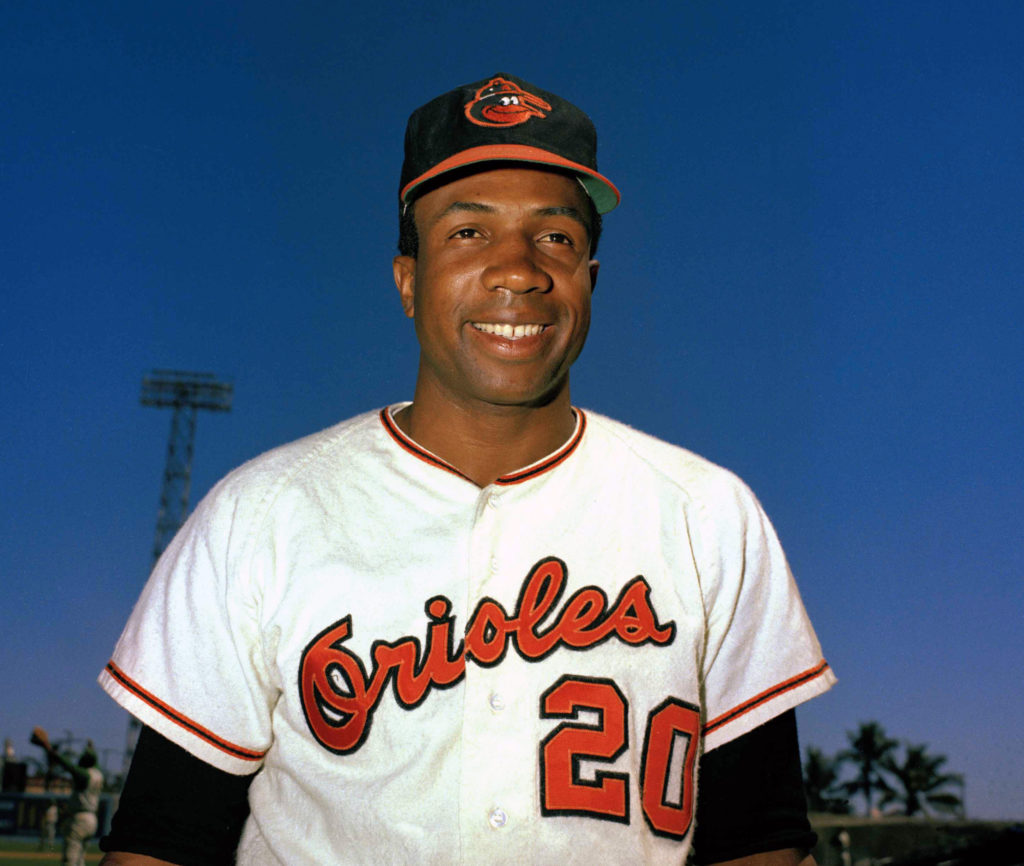 quality design 25866 d0e78 Baltimore Orioles outfielder Frank Robinson in 1967. The Hall of Famer, the first  black