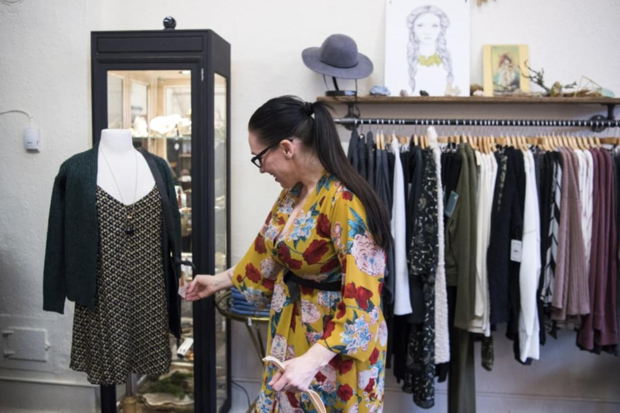 Now that you've cleaned out items that didn't give you joy, it's time to restock. Natasha Hauskins of Vancouver styles a mannequin at Wild Fern in Vancouver.