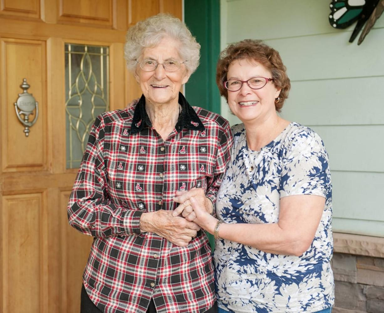 Diarist and former R.N. Bernice (Lorang) Bartel, left, and her niece, author Judith Jacobs Litchfield.