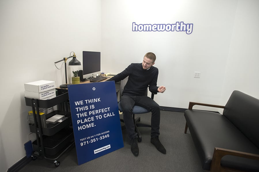 Corey Walters Founder And Ceo Of Homeworthy Looks Over One Of His Companys
