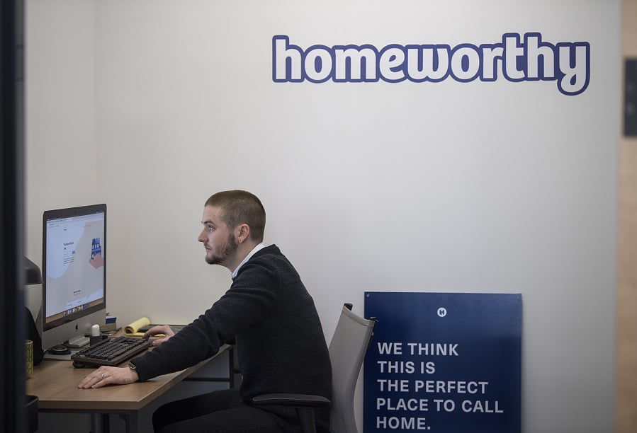 Corey Walters Founder And Ceo Of Homeworthy In His Downtown Vancouver Office On Wednesday