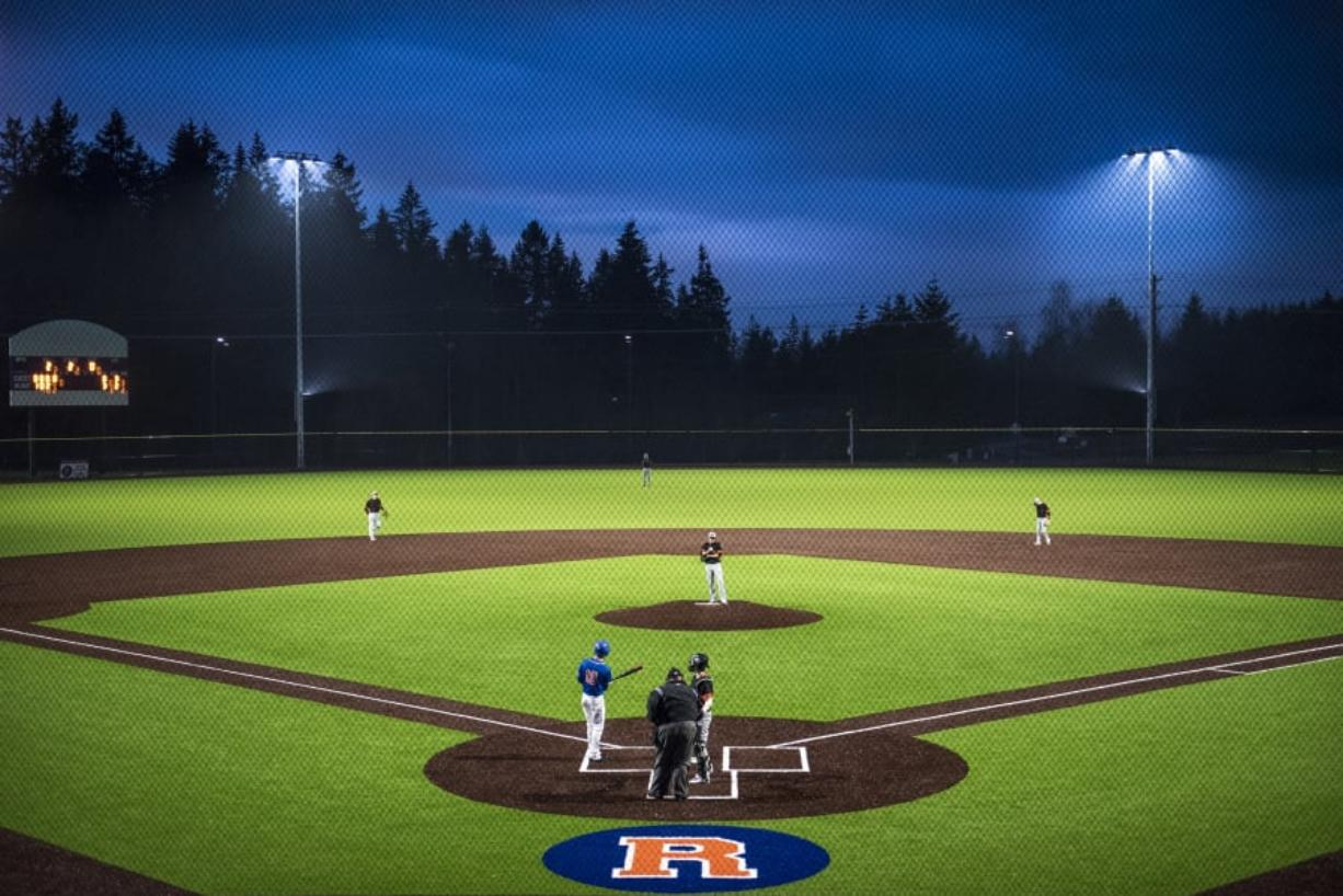The Ridgefield Spudders and the Kalama Chinooks face off in the first game at the new Ridgefield Outdoor Recreation Complex Friday, March 8, 2019.