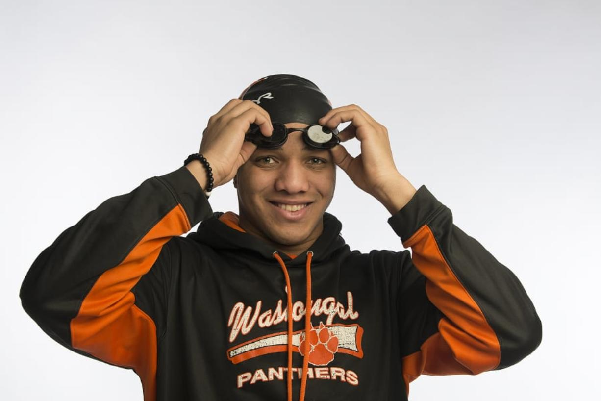 Washougal's Isaiah Ross, our All-Region Swimmer of the Year, is pictured at The Columbian on Wednesday afternoon, March 6, 2019. (Amanda Cowan/The Columbian)