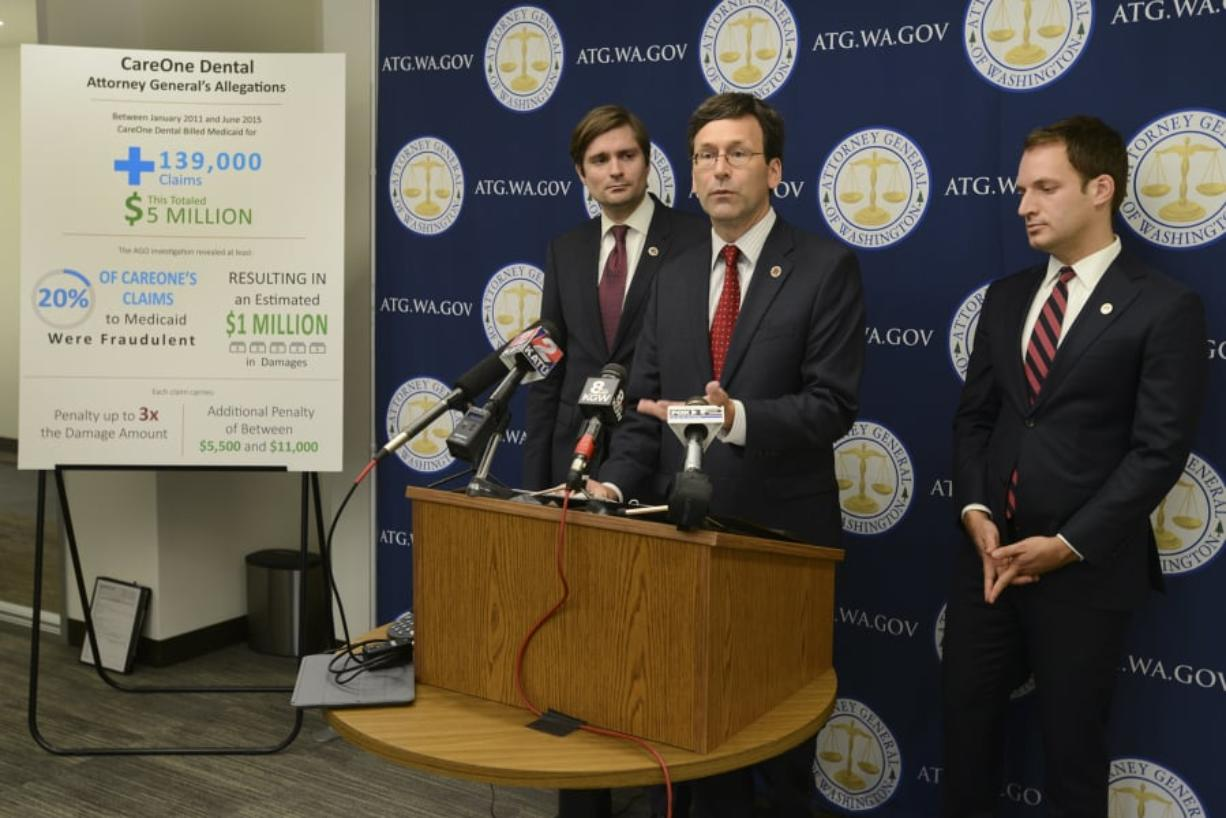 Attorney General Bob Ferguson announced a lawsuit against CareOne Dental for Medicaid fraud in September 2015 at the Attorney General's Office in Vancouver. That lawsuit was settled for $1 million with CareOne owners Dr. Liem Do, and his wife, Dr. Phuong-Oanh Tran.