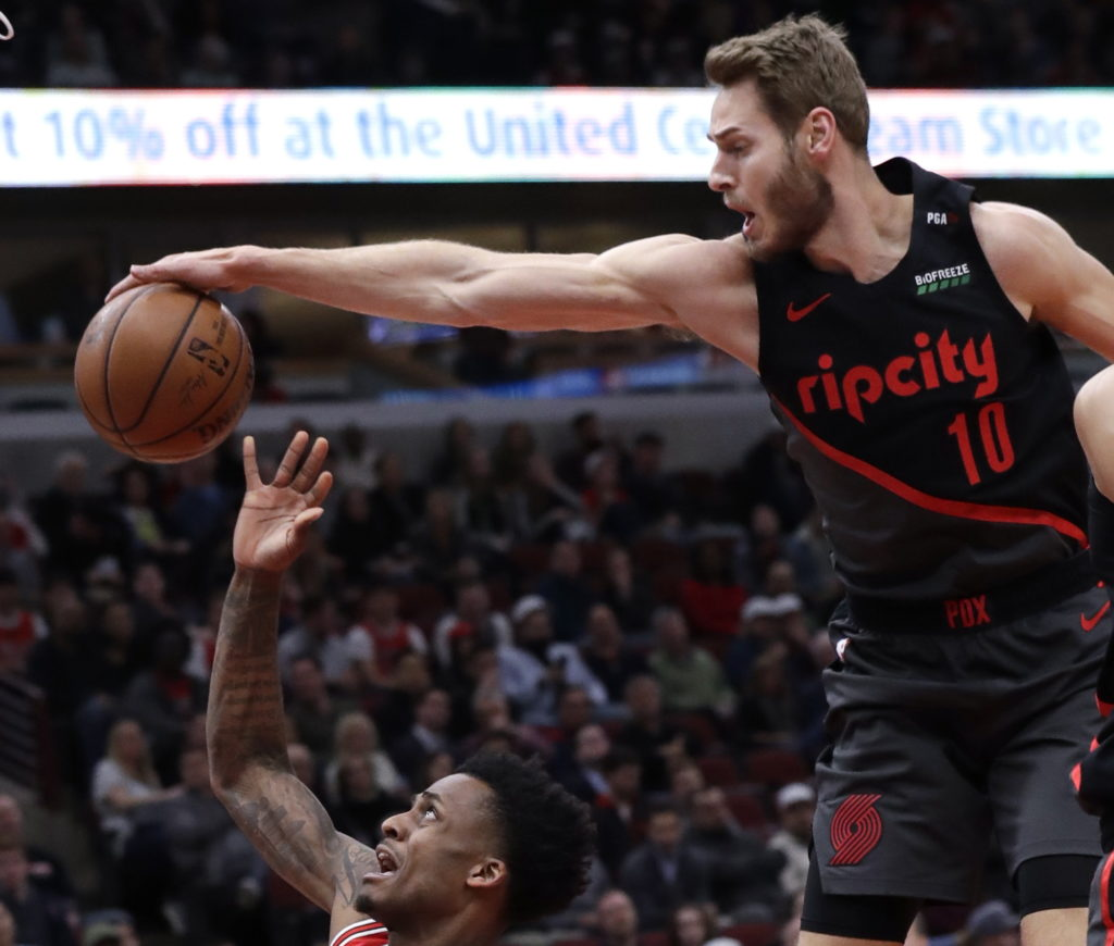 Portland Blazers Game: Trail Blazers Rout Bulls In First Game Without Nurkic