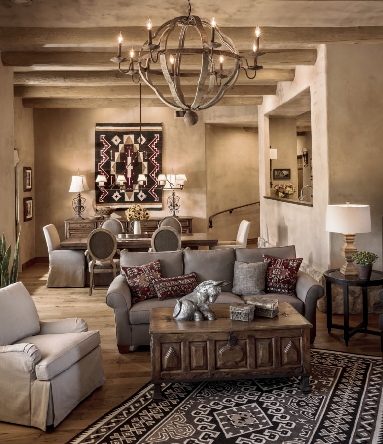 southwest decor homes decorating casual southwestern living interior room warm rustic santa fe dining outside inside south arizona pueblo contemporary