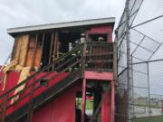 A fire destroyed an Alcoa Little League score tower and all of its contents Wednesday afternoon. The league is now raising money to replace gear and prepare for upcoming games. The cause of the fire remains under investigation.