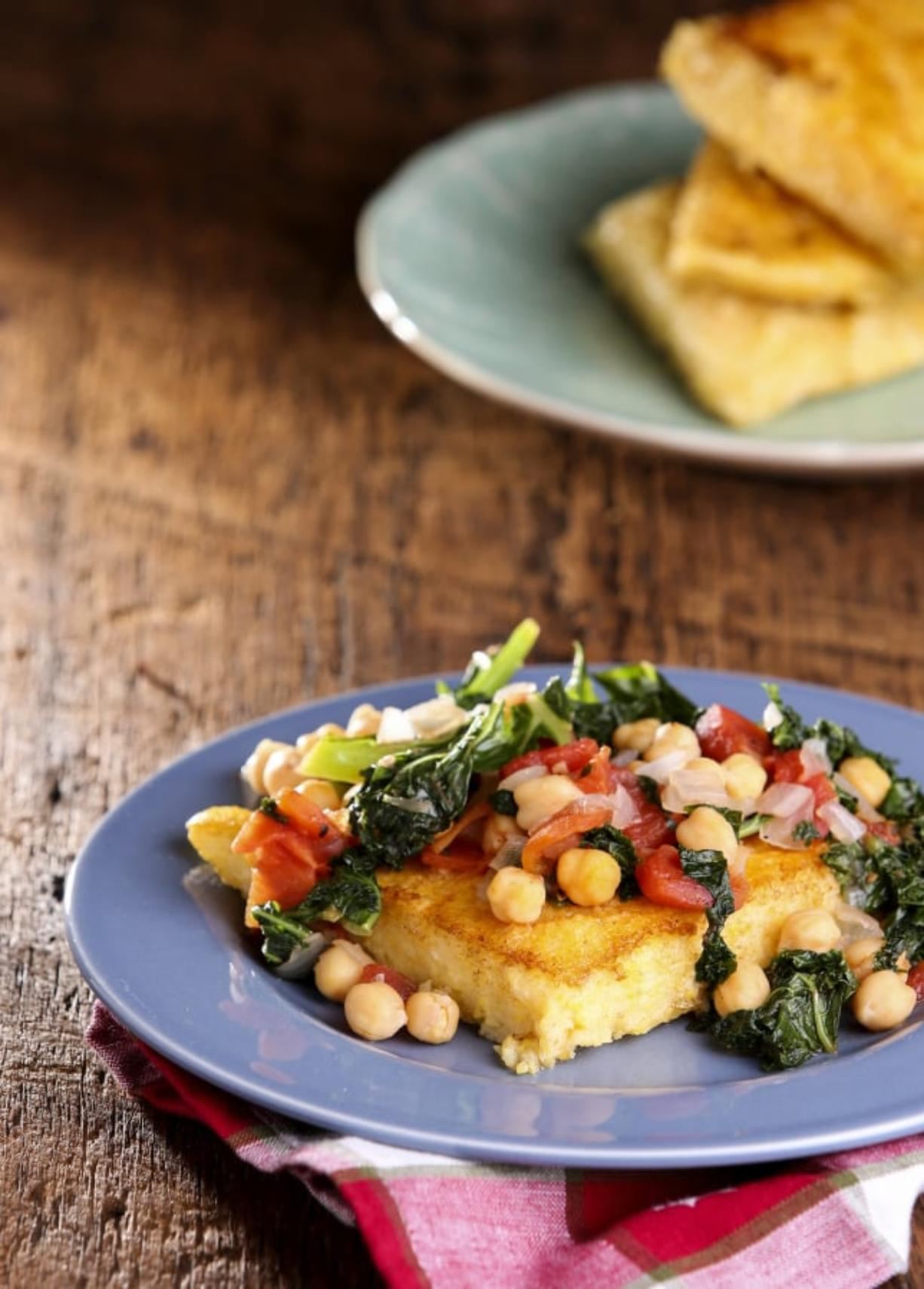 Polenta with Kale and Garbanzo Beans (Colter Peterson/St.