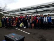 The Vancouver Lake Rowing Club won 11 heats and placed second at the Covered Bridge Regatta near Eugene, Ore.