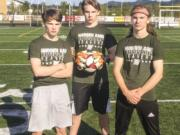 From left to right: Jesse Thrall, Treyson Thrall and Aidan Thrall.