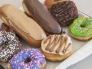 A tray of treats tempts customers at the new Mr. Maple Donuts shop in Hazel Dell. Coffee drinks and bagel breakfast sandwiches are also on the menu.