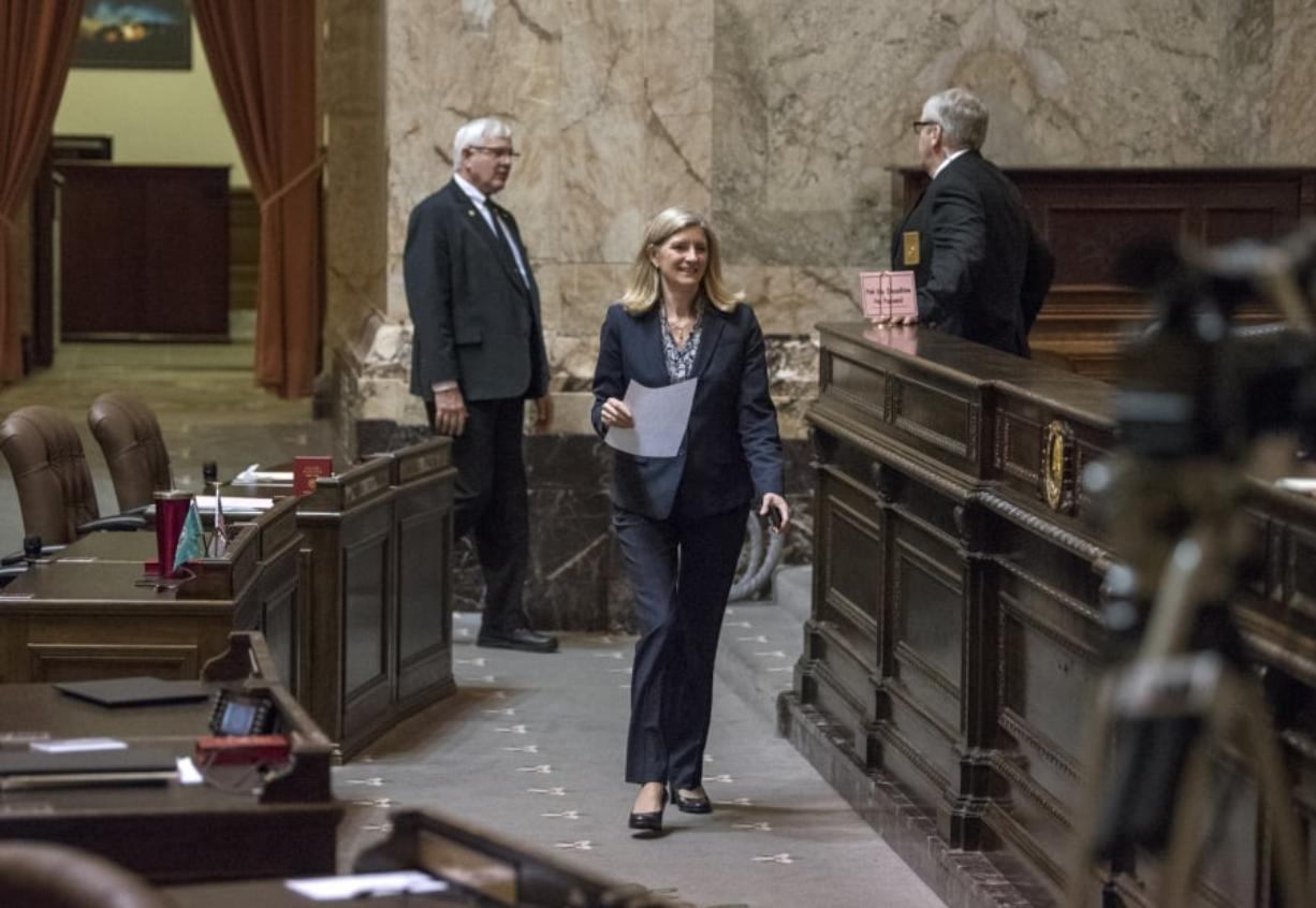 State Rep. Vicki Kraft, R-Vancouver, gets ready for the legislative session to begin April 9 in Olympia. During this year's session, Kraft has called attention to bills she's found troublesome, in some cases defying legislative convention.