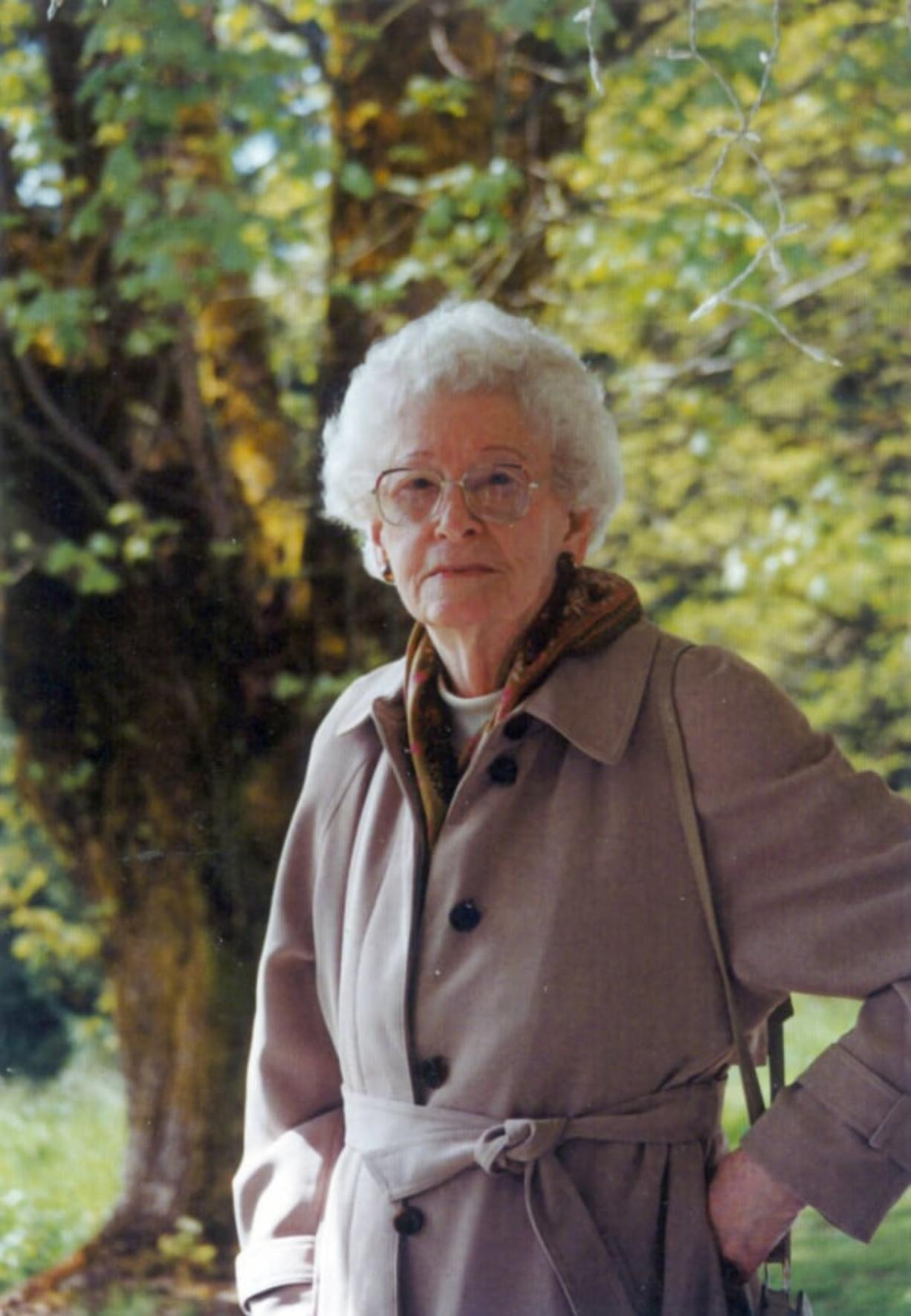 Late Vancouver poet Mary Barnard, toward the end of her life. Barnard attended Reed College and became a respected modernist poet. She published eight books in all — original poetry, translations of ancient Greek, a memoir and more.