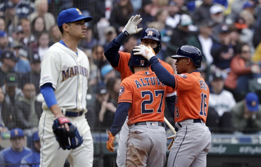 1a79191ae Mariners swept at home by Astros