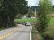 Sheriff's deputies investigating a crash that occurred Saturday morning.